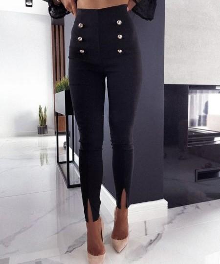 Dolge ženske hlače v črni barvi
